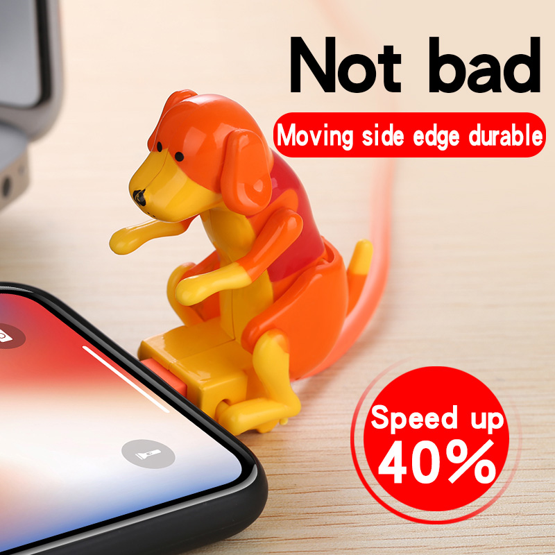 Mini Humping Spot Dog Funny Puppy Toys USB Cable Charging for Android iPhone Smartphone Tablet XXM8