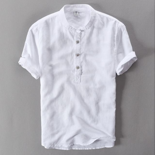 2018 degli uomini di estate camicie a maniche corte respira Fresco camicie