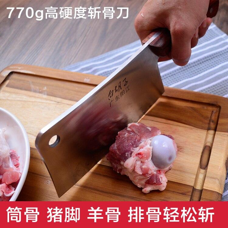 Couteau de cuisine en acier inoxydable de haute qualité + outils de cuisson + couteaux à trancher avec manche en bois + cadeaux/chef professionnel/hachoir à couperet