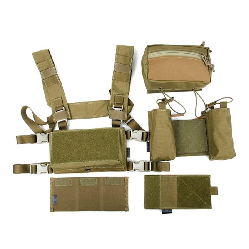 TMC3115 KK Tactical vest set SS chest hang combination 500D non reflective Cordura fabric