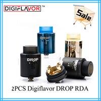 2PCS RDA Digiflavor DROP RDA electronic cigarette tank atomizer fit geekvape gbox mod voopoo drag Mesh plus RDA Coil Father King