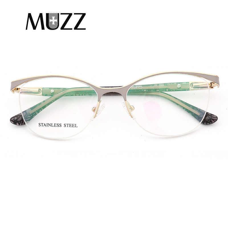 c5b8d472b6d ... MUZZ Cat Eye Style Women Optical Glasses Frames Metal Glasses Frame  Women Prescription Eyewear Clear Myopia ...