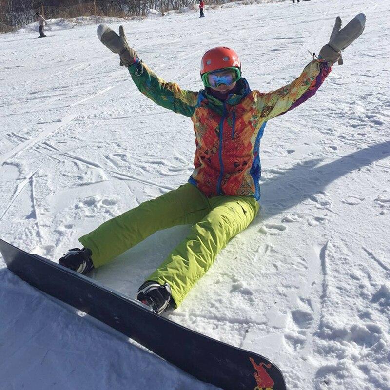 Combinaison de Ski pour femmes épaissir imperméable coupe-vent respirant en plein air combinaison de Sport de montagne costume d'hiver femmes pantalon et veste - 2