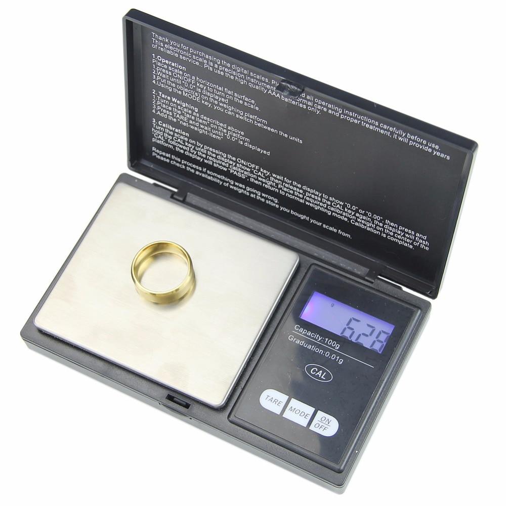 Mini 100g/0.01 Digital Scala Dei Monili Peso Doppio Tasca Elettronica LCDMini 100g/0.01 Digital Scala Dei Monili Peso Doppio Tasca Elettronica LCD