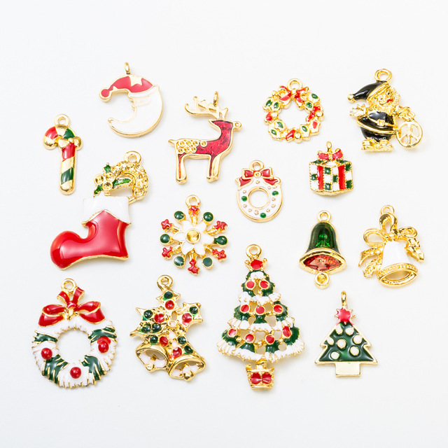 8pcslot mini gold alloy different styles ornament christmas tree decoration navidad decorations gift natal - Different Christmas Decorations