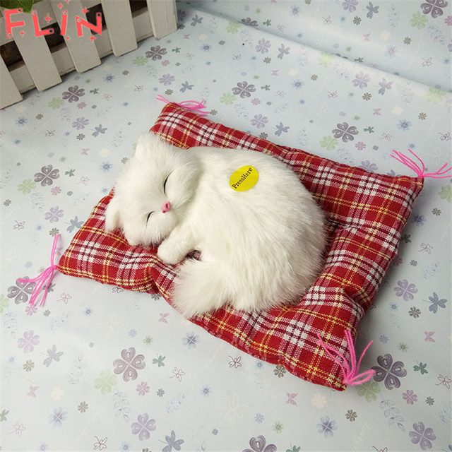 Simulation  Stuffed Cats Home Decorations Toys Lovely Animal Doll Plush Lazy Sleeping Gifts Fiesta Plush Toy With Sound Crafts 6