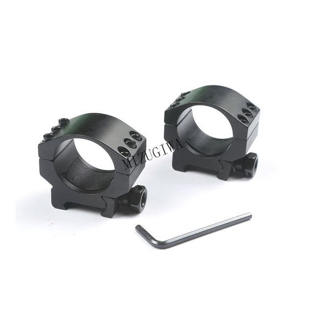 1 pair (2pcs) Heavy Duty Low Profile 6 Bolts 30mm Ring 20mm Weaver Picatinny Rail Scope Mount Lasers Flashlights Hunting Caza