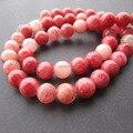 Envío gratis 48 Unids/lote 8mm Cuentas de Piedras Naturales Teñidas de Rojo Mix Color de Los Granos Flojos para hacer la joyería