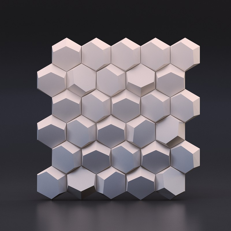 Geometric cement wall tile silicone mold concrete brick mold honeycomb design silicone mold for 3D Decorative