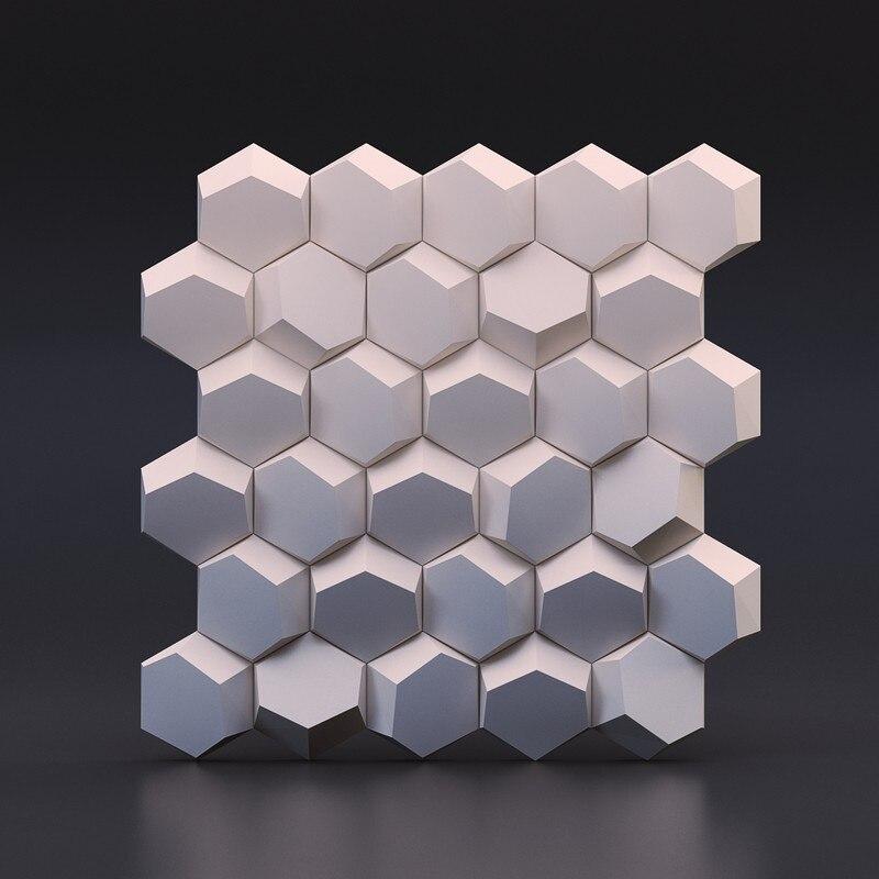 Géométrique tuile de mur de ciment moule en silicone brique de ciment moule conception en nid d'abeille moule en silicone pour 3D plâtre décoratif Mur