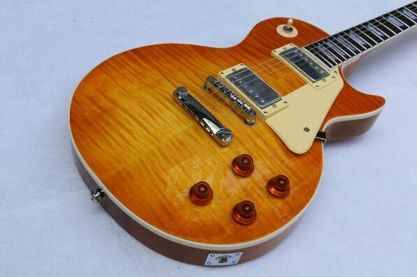 Музыкальные инструменты LP chibson Тигр Пламя гитара электрическая гитара, один кусок гриф гитары, бесплатная доставка