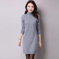 Autumn Winter New Cashmere Stylish Sweater Pullowers Female Slim Long Sleeve Turtleneck Fashion Slim Bodycon Women Long Sweaters