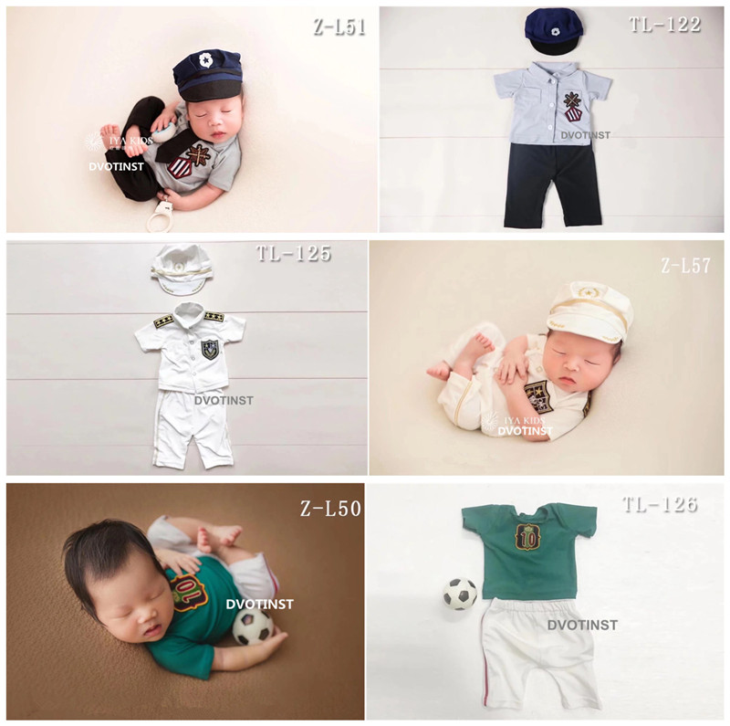 Dvotinst Newborn Baby Photography Props Policemen Athlete Outfits Cosplay Costume Clothes Fotografia Studio Shoot Photo PropsDvotinst Newborn Baby Photography Props Policemen Athlete Outfits Cosplay Costume Clothes Fotografia Studio Shoot Photo Props