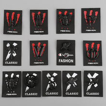 Black A  Megadeth Embroidered Badges Patch for Clothes Ironing on Stickers Sewing Applique Jacket Jeans 10 pcs/lot
