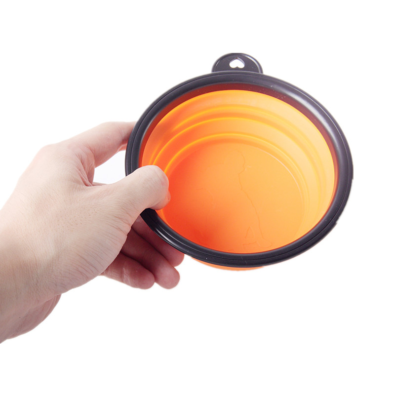 Collapsible Silicone Pet Food Bowl Portable Outdoor Travel Dog Food Container Water Drinking Bowl Dish Pet Feeding Accessories 9