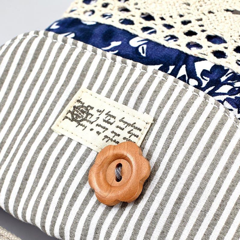 QZH Women Mini Messenger Bags Flap Bag Lady Fresh Style Canvas - Պայուսակներ - Լուսանկար 5