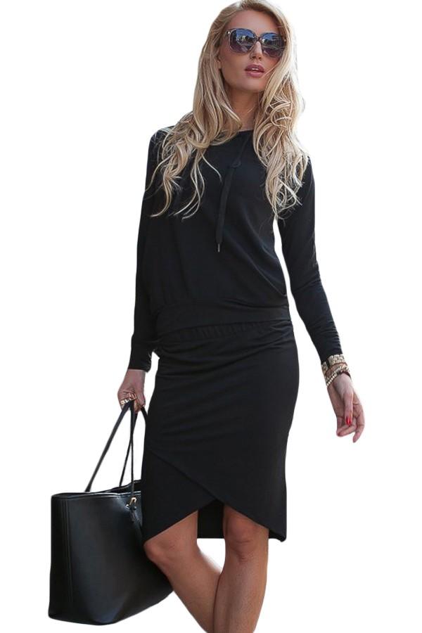 Black-Sporty-Hoodie-Pencil-Skirt-Set-LC63017-2-2