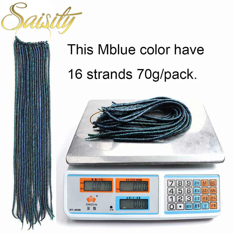 "Saisity faux locs crochet cabello sintético dreadlocks jumbo trenza trenzado cabello 14 ""18"" 24 raíces/paquete la Habana mambo"