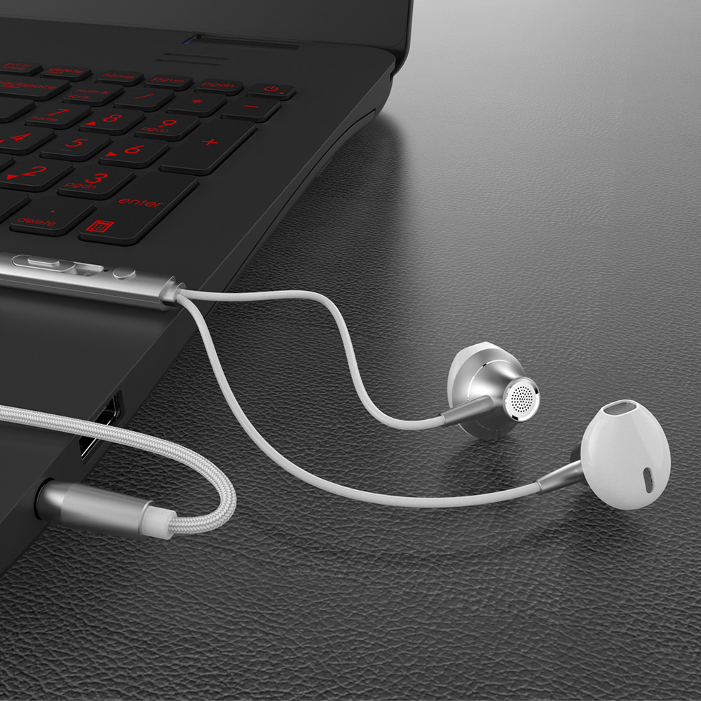 Metal Earphone HIFI Universal Wired Earphones In-ear Stereo HD Noise Reduction Subwoofer 3.5mm Standard Jack Headset 5pcs/Lot