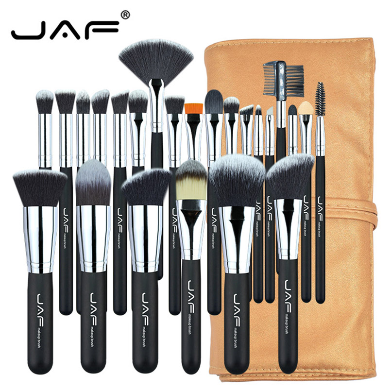 JAF Brand Professional Makeup Brushes 24 pcs/set with Bag For Face Foundation Concealer Brush Makeup Tool Kit Women Daily Makeup 200cm 150cm backgrounds large family backyard garden flowers form dense growth arches childr photography backdrops photo lk 1062