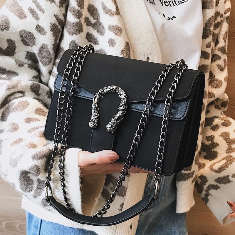 2018 Famous Designer Handbags Chain Shoulder Bags Khaki Female Bag Fashion Lock Women Casual Crossbody Messenger Bags Channels