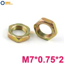 200 Cái ONE M7 * 0.75*2 Thin Nut Chủ Đề Tốt Carbon Màu Thép Mạ Kẽm