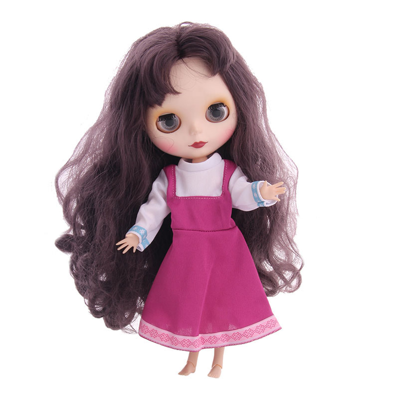 Upgrade Dress For Blyth Doll Clothes Christmas Gift Toy Dress For BJD Doll 1/6 30cm Doll