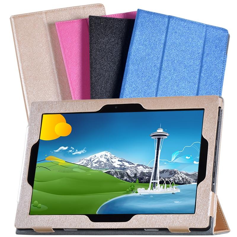 Ultra Slim Luxury Silk Grain Flip Stand PU Leather Case Cover For Lenovo Ideapad Miix 310-10ICR MIIX310 MIIX 310 10.1 Tablet