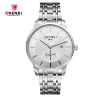 Luxury Brand CHENXI Silver Man S Casual Watches Stainless Steel Minimalism Elegant Business Dress Clock For
