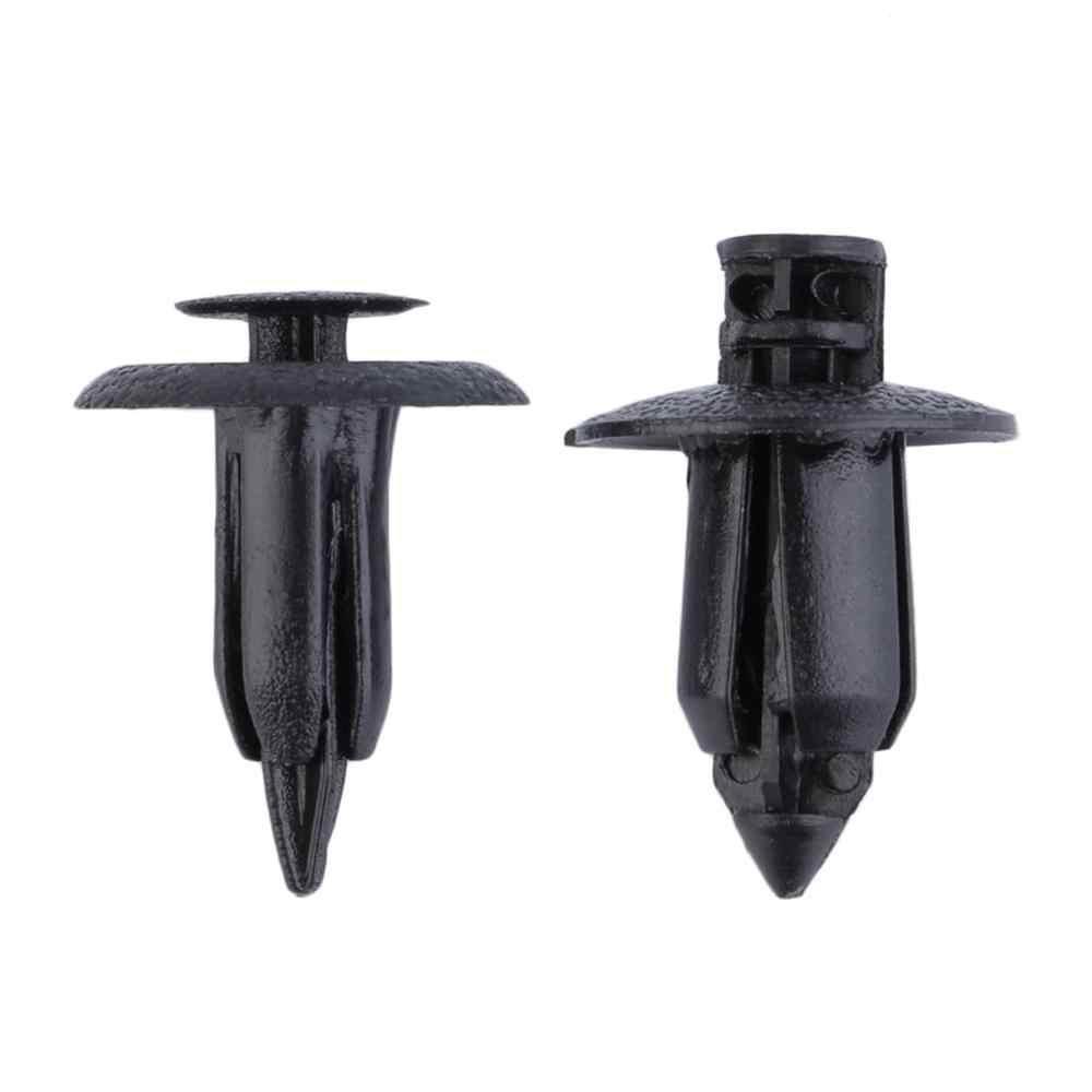 20 pièces/lot 6mm et 8mm voiture moto carénage Clips Rivets trou fixation panneau noir pour Suzuki