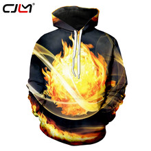 CJLM Hoodies Men 2018 New Fashion Cool Print Flame Combustion 3d Sweatshirt Hoodie Hip Hop Streetwear Sweats Tracksuits Unisex(Hong Kong,China)