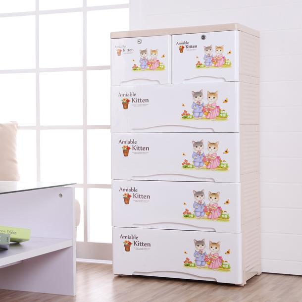 מעולה Children's wardrobe pumping plastic IKEA cabinets drawers drawer FI-25