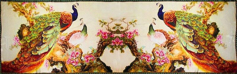 Шелковый шарф, женский шарф, Шелковый платок павлина, дизайнерский шарф, женский шелковый шарф из пашмины, длинный плотный шелковый шарф, роскошный подарок для девушек