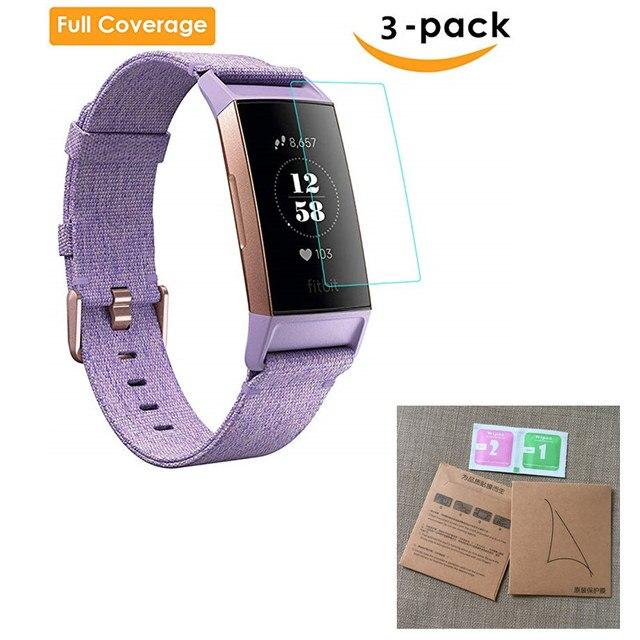 3 pièces anti-rayures doux TPU clair protecteur Film garde pour Fitbit Charge 3 Charge3 Smart bracelet complet écran protecteur couverture