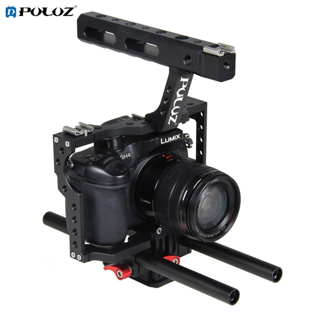 PULUZ PU3010 Durable Aluminum Camera Cage Handheld Ergonomic Handle Steadicam Stabilizer Suitable for Sony A7 A7S A7R2 цена и фото