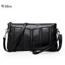 Bolsa feminina de couro de tecelagem padrão de pele de carneiro mini sacos de ombro senhoras garras clássico pacote de telefone celular