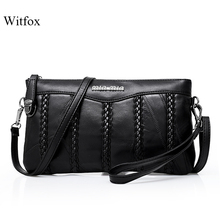 Leather women bag weaving pattern sheepskin mini shoulder bags ladies clutches classic cell phone packet