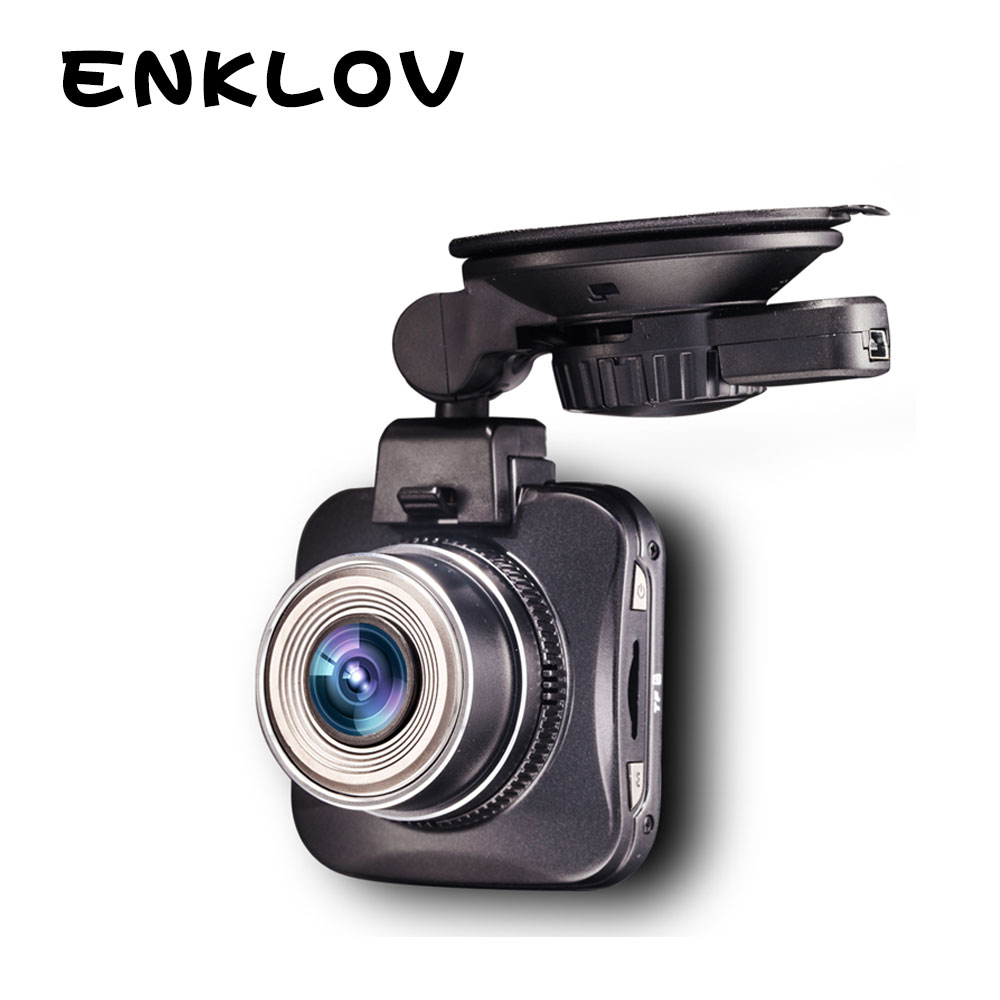 ENKLOV Full HD 1080P 5.0MP Dash Cam 170-degree Wide Angle CMOS G-sensor Car DVR Black Car Recorder Mini Night Vision Car Camera