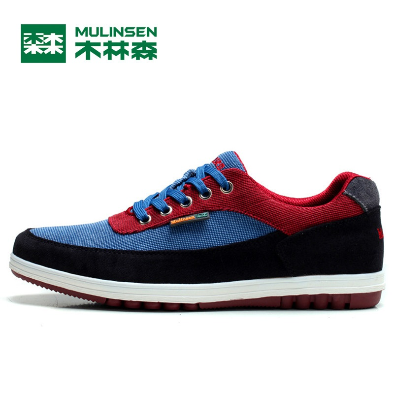 Mulinsen hombres deportes running shoes azul oscuro/rojo/de color caqui/azul cla