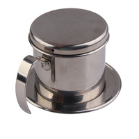 Stainless Steel Metal Vietnamese Coffee Drip Cup Filter Maker Strainer