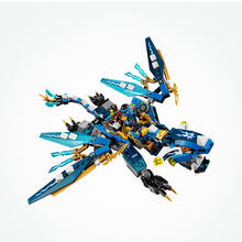 Lepin 06027 Legoing Ninjago Series 378 Pcs The Elementary Dragon Brick Model Educational Toys For Children Compatible Legoings(China)
