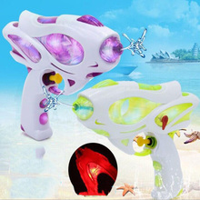 Summer Outdoor Beach Play Water Shining Gun Toy Cartoon Cool Light Children Entertainment Spray
