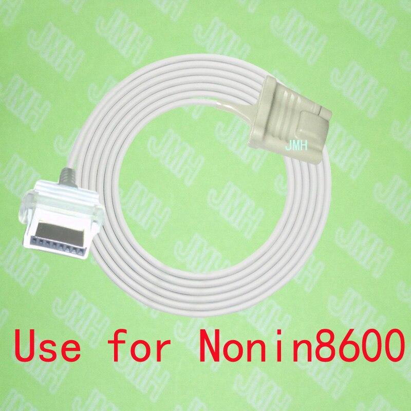 Compatible with Nonin 8600 Pulse Oximeter monitor, Adult silicone soft tip spo2 sensor,8PIN.Compatible with Nonin 8600 Pulse Oximeter monitor, Adult silicone soft tip spo2 sensor,8PIN.