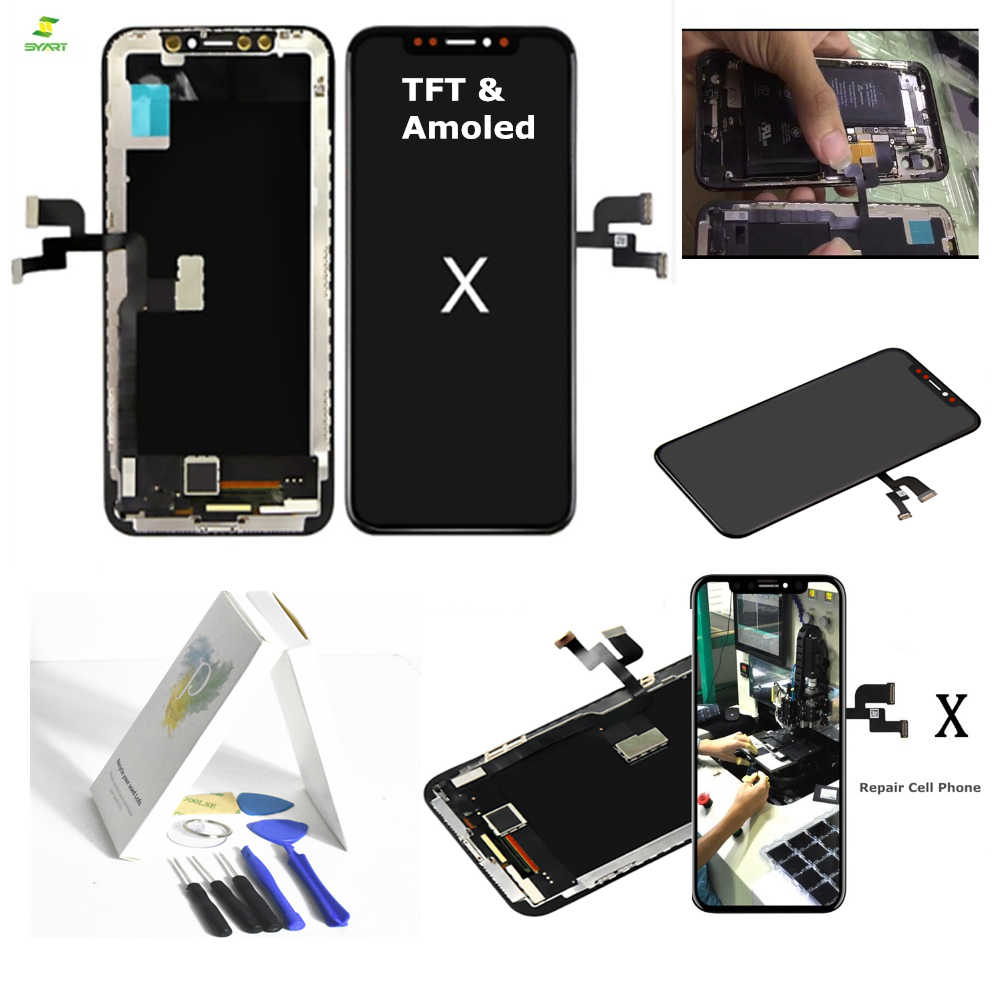 the latest d009d b912a TFT Amoled 10 Ten For iPhone X Full Lcd Assembly with Frame Replacement 5.8  inch TFT Display LCD Digitizer Module Touch Screen
