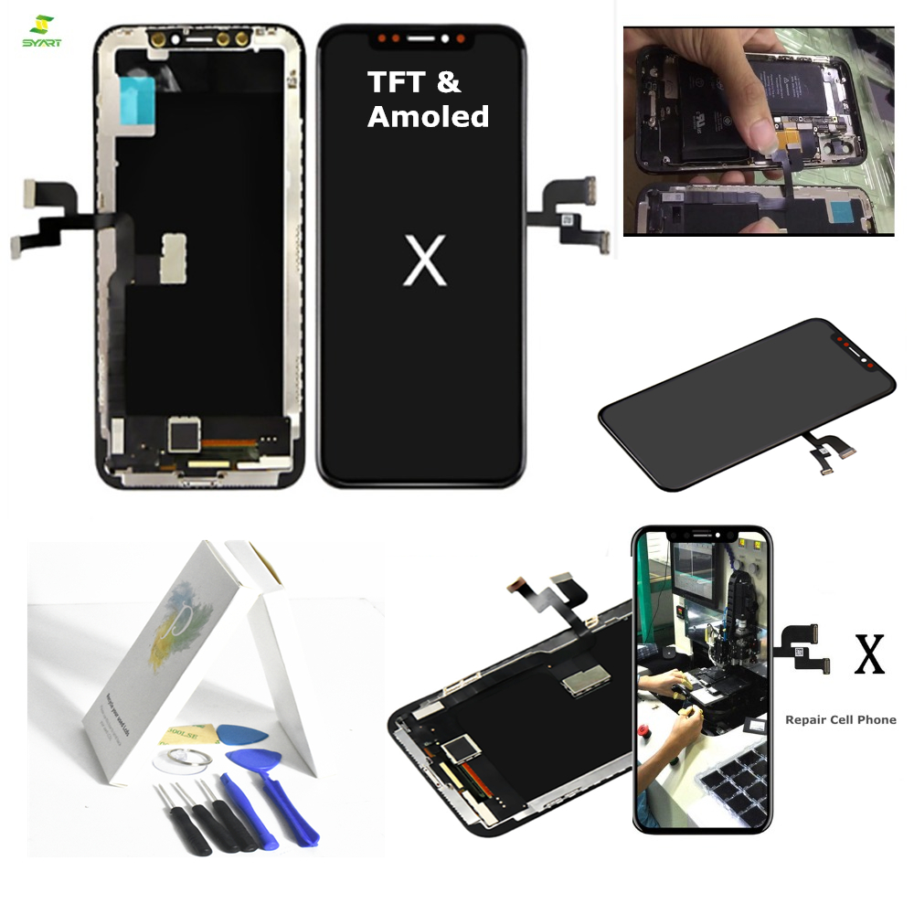 TFT Amoled 10 Ten For iPhone X Full Lcd Assembly with Frame Replacement 5.8 inch TFT Display LCD Digitizer Module Touch Screen