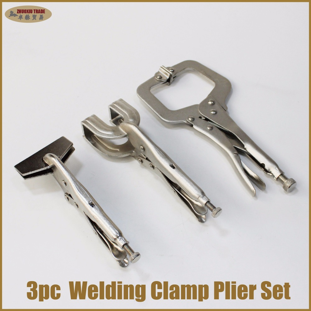 цены Spot Welding clamp C plier set mole vice grip locking pliers metal sheet automotive garage dent weld tools bodywork car repairs