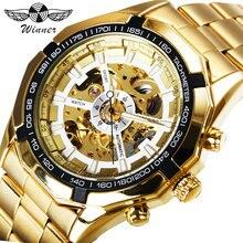 537430757db WINNER Top Brand Luxury Watch Men Automatic Mechanical Watches Golden  Stainless Steel Strap Skeleton Dial Tachymeter.  HTB1dE4oe5MnBKNjSZFCq6x0KFXa5