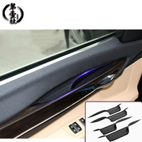 Car Interior Door Handles Front Rear Left Right Inner Doors Panel Handle Bar Pull Carrier Trim Cover for BMW f01 f02 7Series
