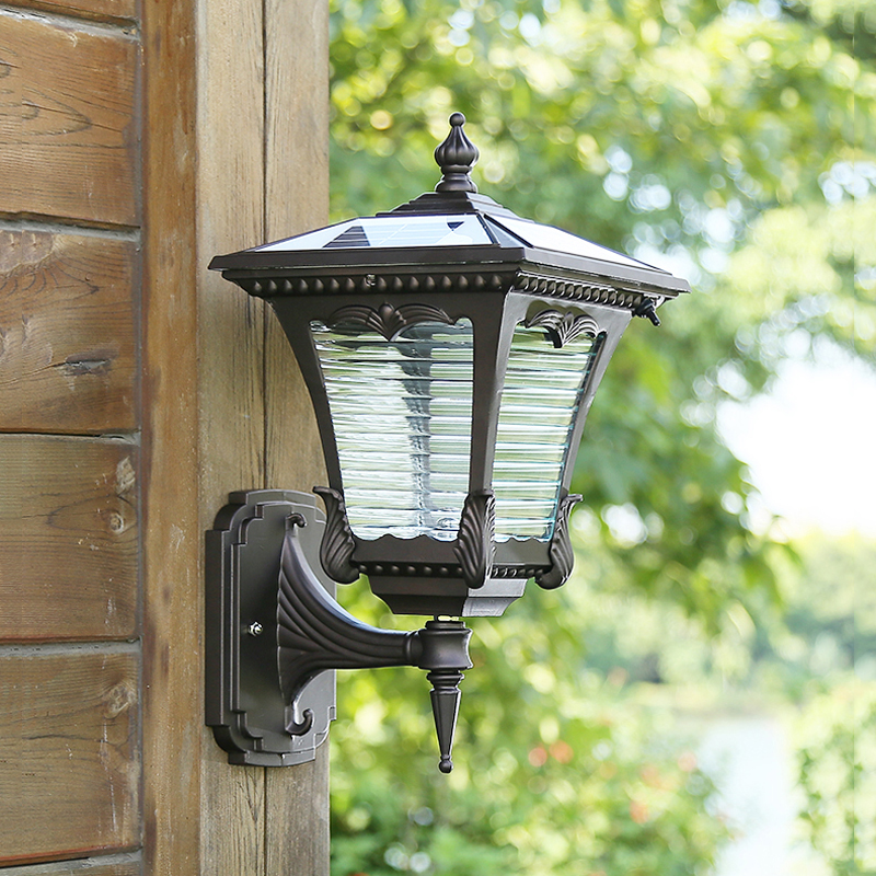 Solar garden wall lamp led  Waterproof Outdoor door light Household porch lighting newest style led solar wall light solar lamp outdoor solar garden decorative lamp