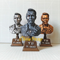 Terminator 20CM RESIN statue Arnold Schwarzenegger Action Figure Terminator T800 T2 Model toy With stents